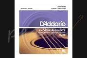 D'addario - 11-52 Custom Light Phosphor Bronze