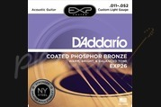 D'addario - 11-52 Custom Light Coated Acoustic Strings