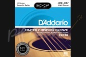 D'addario - 11-47 Light Coated Acoustic Strings 12-String