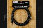 Fender Custom Shop 18.6ft Angled Instrument Cable Black Tweed