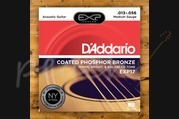 D'addario - 13-56 Medium Coated Acoustic Strings