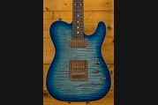 Schecter USA PT Custom Trans Sky Blue Flame Maple HH