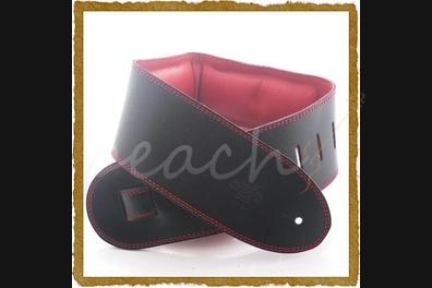"DSL GEG-35-15-6 Leather 3.5"" Black with red backing"