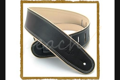 "DSL GEP-25-15-3 2.5"" Leather Black with Beige piping"