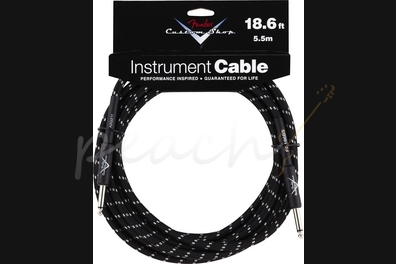 Fender Custom Shop 18.6ft Instrument Cable Black Tweed