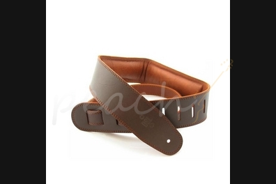 "DSL Garment leather 2.5"" with foam padding Brown/Brown"