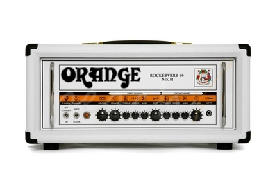 Orange Rockerverb MK II 50 Watt Head White