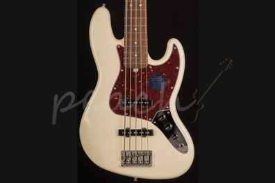 Fender American Standard Jazz Bass V RW Olympic White