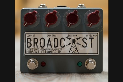 Hudson Electronics Dual Footswitch Broadcast Pre-amp Pedal