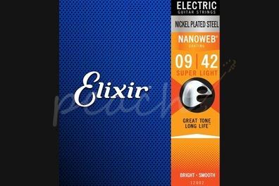 Elixir Electric Nickel Nanoweb Strings - 9-42 (Super Light)
