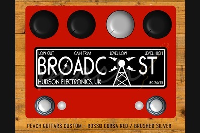 Hudson Electronics Broadcast BC-24V-PG Dual Footswitch Rosso Corsa