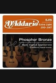 D'addario EJ15 10.47 Phosphor Bronze