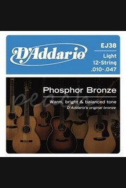 D'addario EJ38 10-47 12 String
