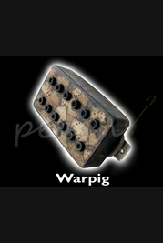 Bare Knuckle 'Warpig' Humbucker Covered Black Battleworn