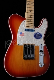 Fender American Deluxe Tele Aged Cherry 'burst Maple neck