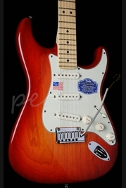 Fender American Deluxe Strat Ash Aged Cherry Burst Maple