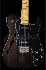 Fender Modern Player Tele Thinline Deluxe Black Trans