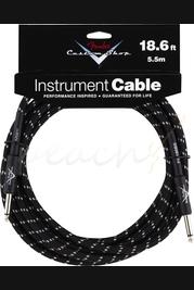 Fender Custom Shop 18.6ft Instrument Cable Black Tweed