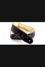 """DSL Garment leather 2.5"""" with foam padding Brown/Beige"""