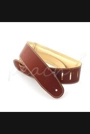 "DSL Garment leather 2.5"" with foam padding Tan/Beige"