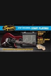 Squier G-Dec JR HSS Strat Pack Candy Apple Red