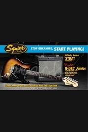 Squier G-Dec JR HSS Strat Pack Brown Sunburst