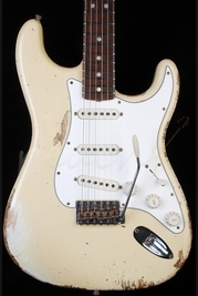 Fender Custom Shop 68 Strat Heavy Relic Aged Vintage White