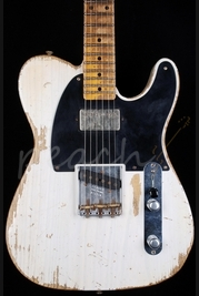 Fender Custom Shop 52 'Fat' Tele Heavy Relic White Blonde