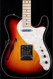 Fender American Deluxe Telecaster Thinline 3 Tone Sunburst Maple Neck