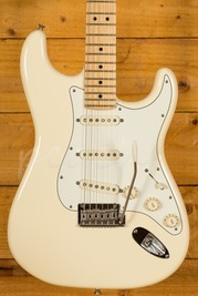 Fender USA Standard Strat Maple Neck Olympic White Used