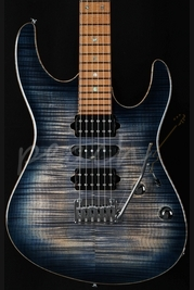 Suhr Modern Carve Top Faded Trans Whale Blue