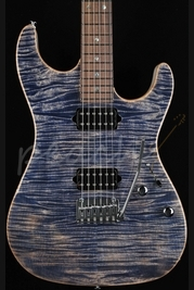 Suhr Standard Trans blue denim with trans white back