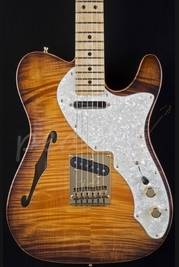 Fender Select Thinline Telecaster Violin Burst Gold Hardware