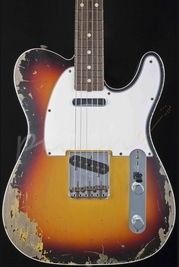 Fender Custom Shop 60 Tele Custom Heavy Relic 3 Tone Sunburst