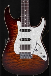 Tom Anderson Drop Top Classic Burnished Orange Burst With Binding