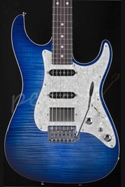 Tom Anderson Hollow Drop Top Classic Jack's Pacific Blue Burst