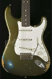 Fender Custom Shop '63 Strat Heavy Relic Olive 'Irish Pub'