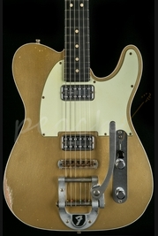 Fender Custom Shop Double TV Jones Relic Tele Bigsby Gold