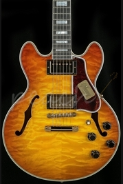 Gibson Custom CS-356 5A Quilt Limited Honey Burst