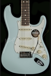 Fender American Standard Strat Channel Bound Rosewood Sonic Blue