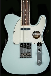 Fender American Standard Tele Channel Bound Rosewood Sonic Blue