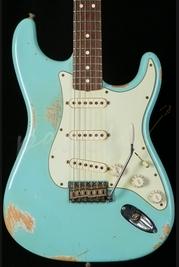 Fender Custom Shop 63' Heavy Relic Strat Daphne Blue