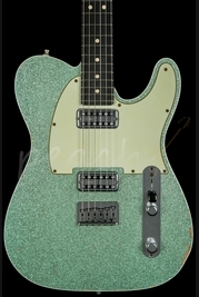 Fender Custom Shop Double TV Jones Relic Tele Sea Foam Green Sparkle