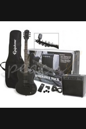 Epiphone 'Goth' SG Electric Guitar Performance Pack - Pitch Black