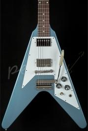 Gibson Custom Flying V 1967 Reissue Pelham Blue with Maestro
