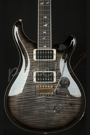 PRS Custom 24 30th Anniversary Charcoal Burst 10 top Pattern Thin