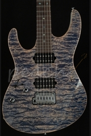 Suhr Modern Left Handed Trans Blue Denim Slate Used