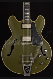 Gibson ES-355 Bigsby Olive Drab Green
