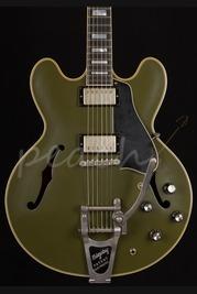 Gibson ES-355 Bigsby Olive Drab Green