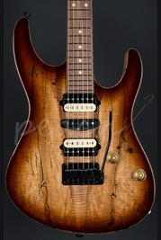 Suhr Modern Black Limba with a Spalted Maple top
